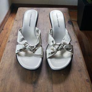 Athena Alexandor champagne sandals
